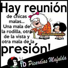 Ja ja ja..yo soy la mala de la presión !!! Funny Spanish Jokes, Spanish Humor, Spanish Quotes, Funny Jokes, Girly Quotes, Me Quotes, Mafalda Quotes, Inspirational Verses, Quotes About Everything
