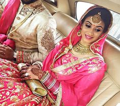 Pink lengha beautiful bride  @Amritkaur