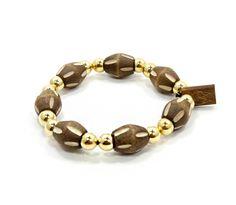 Bamboo Bracelet, $15.00  #woodenbracelet #woodbracelet #goodwoodnyc #Woodjewelry #beadedbracelet