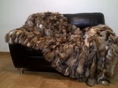 Luxury Real Fur Fox Throw Blanket by LUXURYFURS on Etsy
