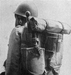 WW2 Japanese Soldier | Figure 410. Japanese soldier with full pack.