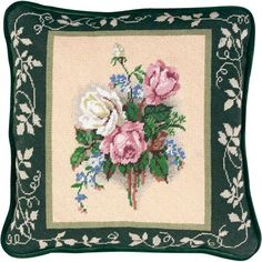 Candamar-Needlepoint Kit. Creative designs and quality products are put in to each of these kits. This kit contains blank 14-count mesh canvas, 100% cotton floss, needle, pre-sorted cotton floss, char