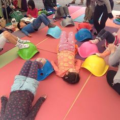 Bilibo Pilates class during Earth Day Tokyo 2015. www.bilibopilates.com #bilibo #pilates #playtools #moluk #healthykids Kids Gym, Collection