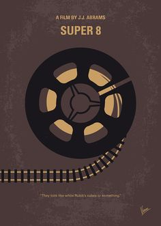 Super 8 (2011) ~ Minimal Movie Poster by Chungkong #amusementphile