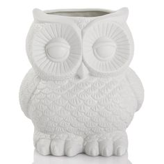 Porcelain Owl Vase | White | 14.3x15.8cm by Sweet Sherbet Shades on THEHOME.COM.AU