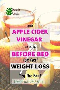 Weight Loss Smoothie Recipes, Weight Loss Drinks, Fast Weight Loss, How To Lose Weight Fast, Braggs Apple Cider Vinegar, Organic Apple Cider Vinegar, Acv, Drinks Before Bed, Vinegar With The Mother