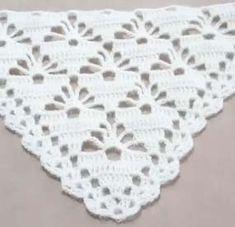Üçgen Piramid Şal Modeli Yapımı Poncho Crochet, Filet Crochet, Crochet Scarves, Baby Blanket Crochet, Crochet Motif, Crochet Designs, Crochet Clothes, Crochet Stitches, Crochet Home