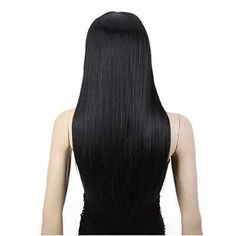 24 inch Straight Long Beautiful Black Wig Hair via Sibrina's Shop. Click on the image to see more!