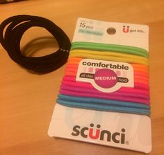 Scunci Ouchless Hair Bands - BNWT As Shown- 15 Neon & 5 Black! RV$6.50