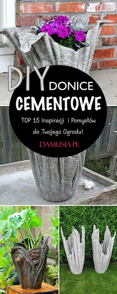 Cement, Recycling, Plants, Diy, Bricolage, Do It Yourself, Plant, Upcycle, Homemade