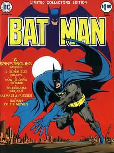 DC Comics' Batman Limited Collector's Edition. Cover by Neal Adams.  #Batman #NealAdams