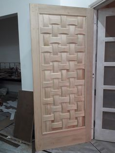 Door Design Interior, Wooden Door Design, Wood Front Doors, Tv Wall Design, Modern Design, Doors Interior, Ceiling Design, Room Door Design