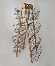 Great for bathroom storage. Loving this Eight-Basket Storage Shelf on Storage Shelves, Storage Baskets, Shelf, Diy Furniture, Furniture Design, Craft Stalls, Condo Decorating, Decorating Ideas, Handmade Market