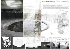 Projects presented to the Northern Lights Arctic Observatory International Architecture Competition for Students Organized by ARCHmedium Architecture Panel, Architecture Graphics, Architecture Drawings, Architecture Portfolio, Architecture Diagrams, Architecture Presentation Board, Architectural Presentation, Architectural Models, Project Presentation