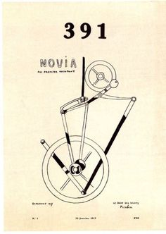 "Francis Picabia, ""Novia, au premier occupant"", in 391, Barcelone, n°3, 1917."