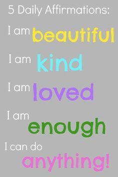 5 Daily Affirminations