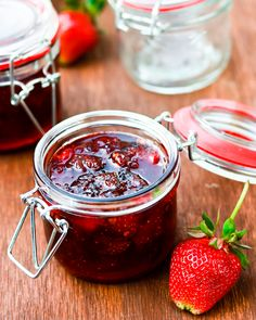 Strawberry Chipotle Jam - Would love to try it with Raspberries too!