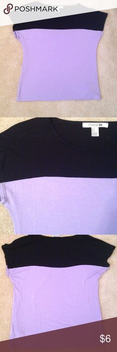 Purple and black shirt Light purple and black forever 21 t shirt Forever 21 Tops Tees - Short Sleeve