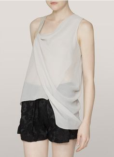 Helmut Lang - Single-strap sheer draped top