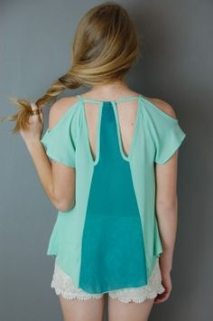 Cutout Top. Like the style and cut, but not as see-through.
