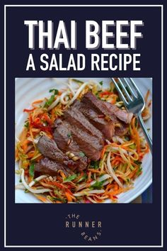 Spice up mealtime with this quick and easy Thai Beef Salad Recipe. Salad is a cool, refreshing seasonal hit - great for a tiring day, or a picnic in your garden, or lunch on the go. Tastes just like takeout Thai Beef Salad, but a million times better and scrumptious! Learn to make this today! Healthy Food Habits, Healthy Living Recipes, Good Healthy Snacks, Healthy Diet Recipes, Healthy Breakfast Recipes, Easy Dinner Recipes, Beef Recipes, Salad Recipes, Lunch Recipes