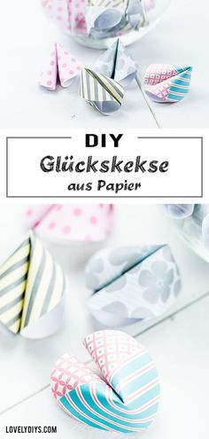 para crianças DIY Glückskekse aus Papier basteln - schönes Geschenk oder Party DIY Making DIY fortune cookies out of paper: these fortune cookies are not only a cool DIY idea for parties or New Year Useful Origami, Diy Origami, Diy And Crafts, Crafts For Kids, Sweet Little Things, Birth Gift, Fortune Cookie, Camping Crafts, Cool Diy