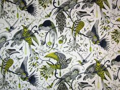 Clarke & Clarke Audubon Gold | Textile Express | Beautiful 100%cotton fabric from the Clarke & Clarke Animalia collection in collaboration with artist Emma J Shipley. Suitable for curtains, soft furnishings and upholstery. Free samples available.