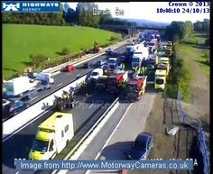 #M25 J5 (Sevenoaks / Barrow Green) - All lanes closed Clockwise until approx 12pm due to serious incident. Expect long delays in both directions. Live updates at http://Roadca.ms/624