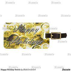 Happy Holiday Swirls Bag Tag