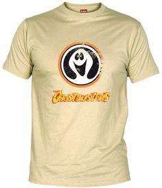 Camiseta de Los Cazafantasmas, serie de dibujos animados (no confundir con la basada en la película) protagonizada por un gorila, 2 hombres y 2 mujeres.