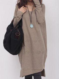 レディース秋ファッション可愛いカジュアルマキシニットワンピース 11618829 - 新作ワンピース - Doresuwe.Com