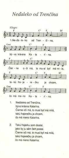 Neďalekom od Trenčína Sheet Music, Music Sheets