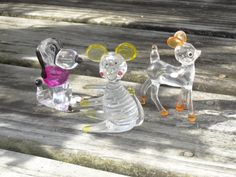 Vintage Mini Clear Plastic Toy Animal Figure Kawaii by jazzjodi