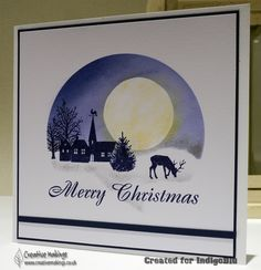 Bildergebnis für indigoblu good all year Stamped Christmas Cards, Beautiful Christmas Cards, Christmas Cards To Make, Xmas Cards, Christmas Scenes, Blue Christmas, Cardio Cards, Stamping Up Cards, Card Making Inspiration