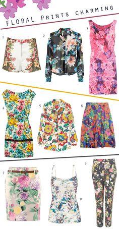 floral prints charming