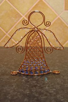 anjelik...beautiful wire angel inspiration!