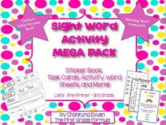 Ultimate Sight Word Activity Pack (Aligned w/ PP-3rd Grade