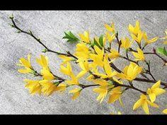 ABC TV | Cómo hacer flor de papel de Forsythia de papel crepé - Tutorial de manualidades - YouTube