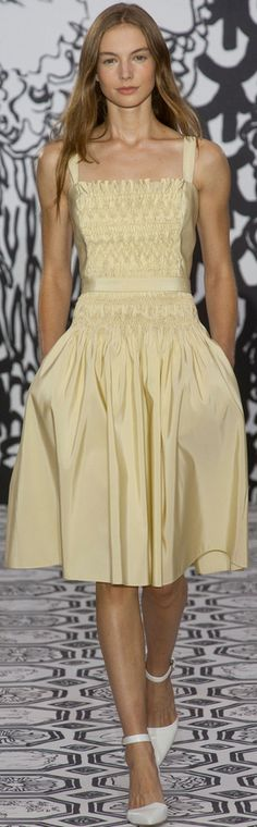 London Fashion Week Spring 2014 Jasper Conran  - Woo Hoo smocking made high fashion!!