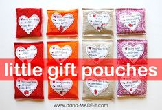 TUTORIAL: little gift pouches