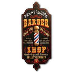 Northwest Gifts - Old Fashioned Barber Shop Personalized Antique Wall Art Sign…