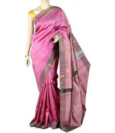 Pink Molakalmuru Handloom Pure Silk Saree