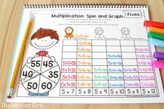 Why can't practicing multiplication facts be fun? Turn math into a game and let your students practice with this exclusive bundle freebie, the Multiplication Spin and Graph NO PREP Packet. Math Multiplication Games, Fun Math, Maths, Math Fractions, Math Graphic Organizers, Homeschool Math, Homeschooling, Math Lessons, Math Tips