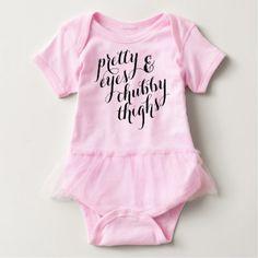 #cute #baby #bodysuits - #Pretty Eyes Chubby Thighs Baby Tutu Body Suit Cute Baby Bodysuit