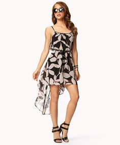 Botanical Print High-Low Dress | FOREVER21