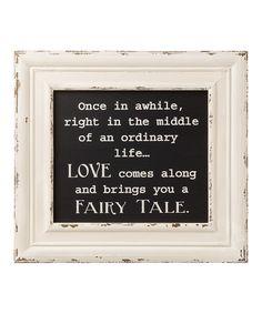 'Fairy Tale' Framed Box Sign