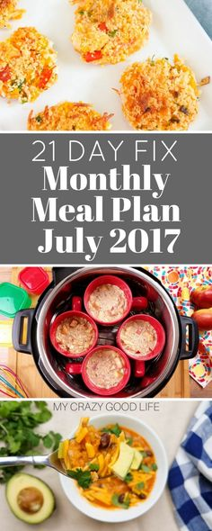 It's a busy time of year. When I get busy I have to have a meal plan. This 21 Day Fix monthly meal plan for July is keeping me on track.