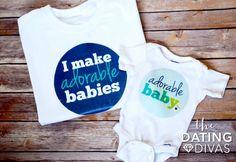 New Dad Gift- matching onesie and shirt! LOOOOOOVE this!!!!