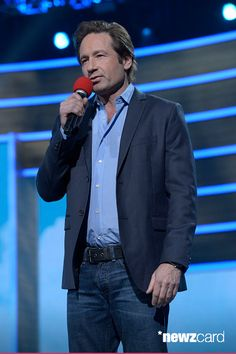 David Duchovny at the NBC #RedNoseDay May 21, 2015
