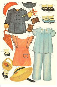 sweet vintage paper dolls.  I would spend hours playing with paper dolls!!!